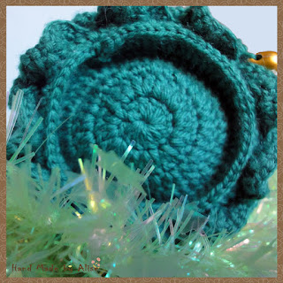 Елочка - зеленые иголочки крючком дно
