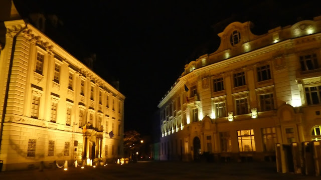 Sibiu - Nachtspaziergang am Großen Ring