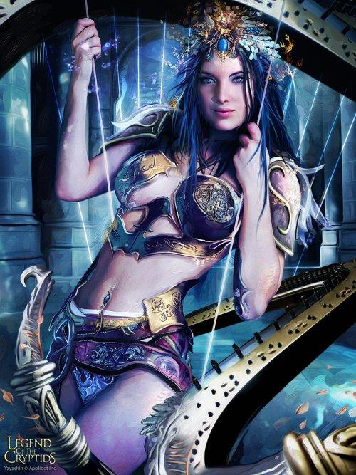 Bruno Wagner yayashin ilustrações fantasia mulheres sensuais card game legend of cryptids beleza photoshop