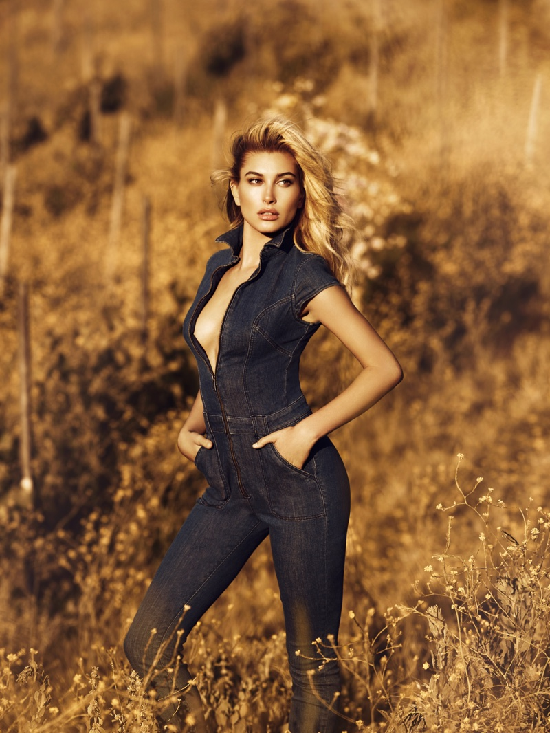 Hailey Baldwin gets sexy for the Guess Fall/Winter 2016 Campaign