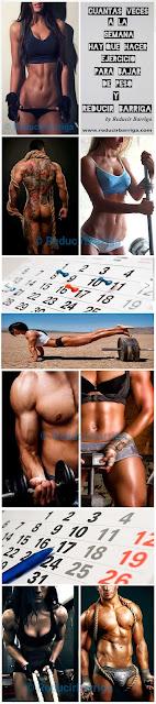 cuantas-veces-semana-hay-hacer-ejercicio-bajar-peso-reducir-barriga