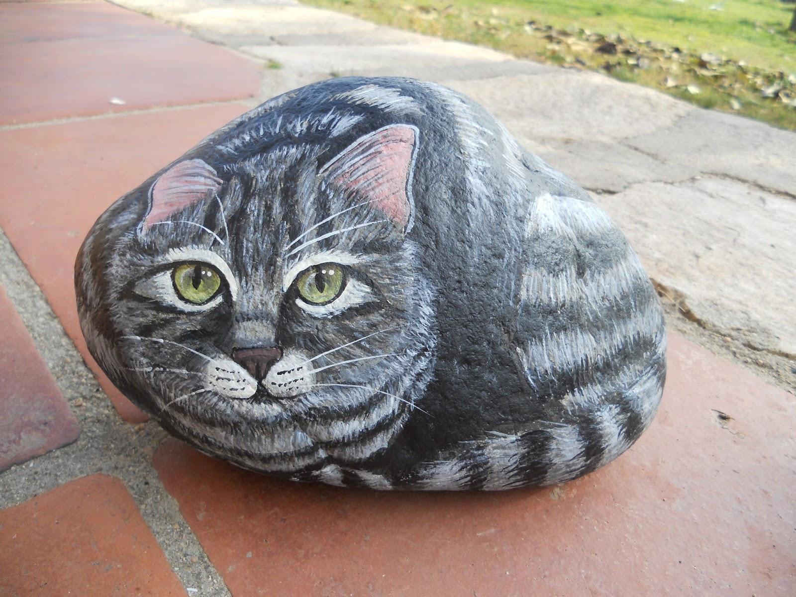Piedras Pintadas A Mano Tutorial Como Pintar Ojos De Gatos