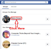 how to delete facebook group in one click