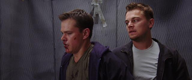 Matt Damon et Leonardo Di Caprio dans Les Infiltrés, réalisé par Martin Scorsese (2006)