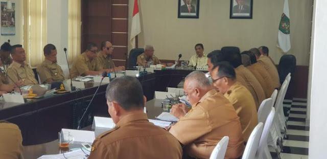 Acara coffe morning yang dipimpin Bupati Asahan Taufan Gama Simatupang.