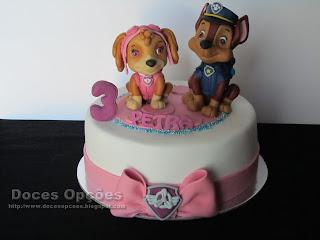 bolo aniversário patrulha pata bragança
