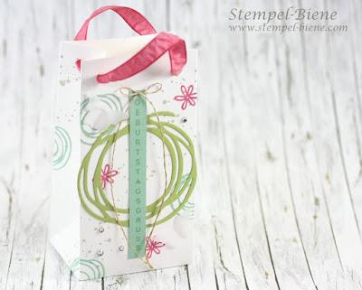 Stampin' Up Swirly Bird; Tütenboard; Geschenktüte basteln; Stampin Up Stempelparty; Stempel-biene