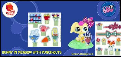 McDonalds Littlest Pet Shop happy meal toys  - US release - Bunny in Meadow