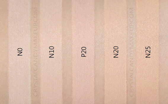 Cover FX Power Play Foundation Swatches N0 N10 P20 N20 N25 MAC Dupes