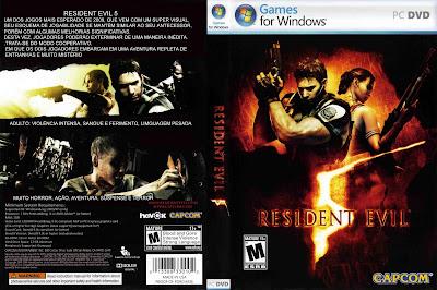 Jogo Resident Evil 5 PC DVD Capa