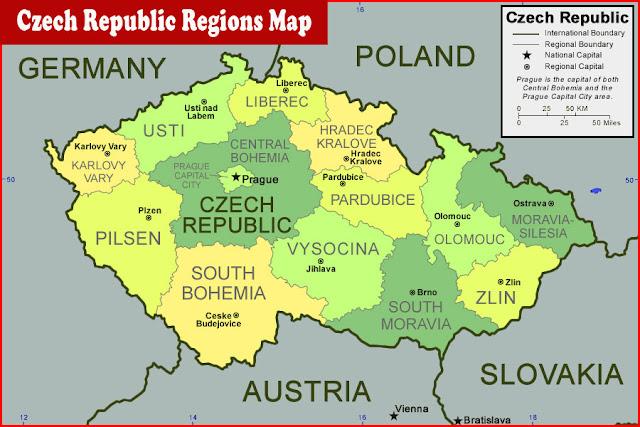 image: Czech Republic Regions Map