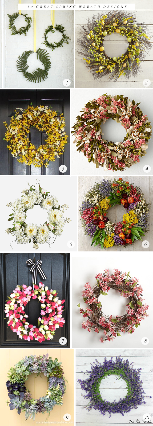 10 Great Spring Wreath Designs // Bubby and Bean
