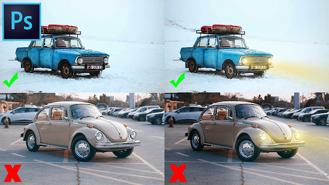 إضافة إضاءة على الصور بإستعمال برنامج الفوتوشوب بإحترافية عالية Photoshop Tutorial
