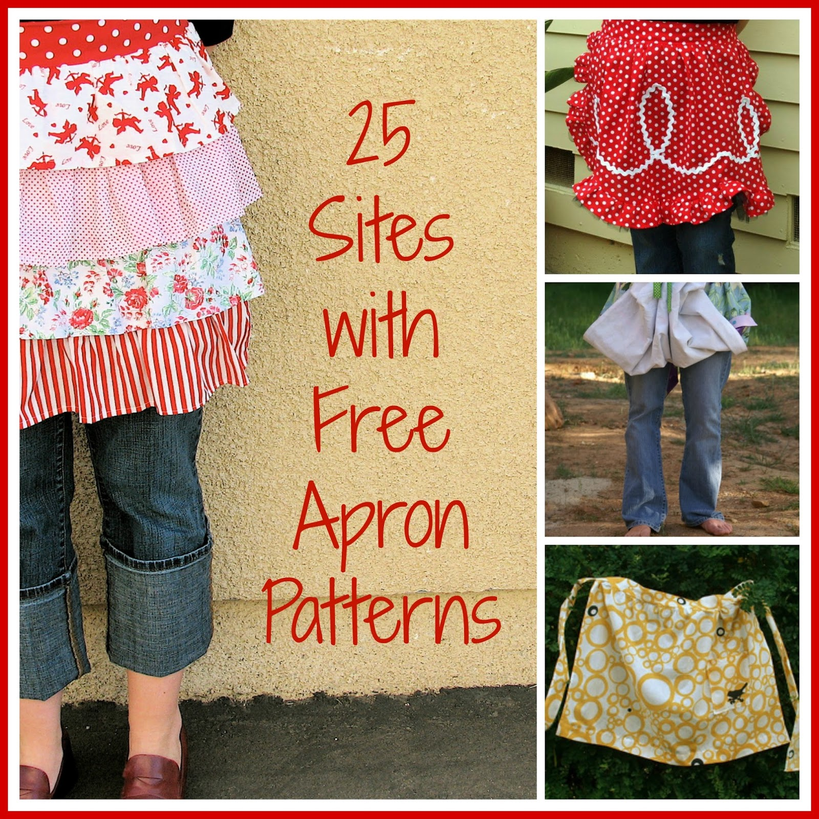 Free Apron Pattern Cool Design Inspiration