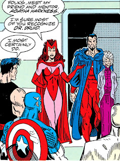 Wanda presenta al Doctor Druida y a Agatha Harkness