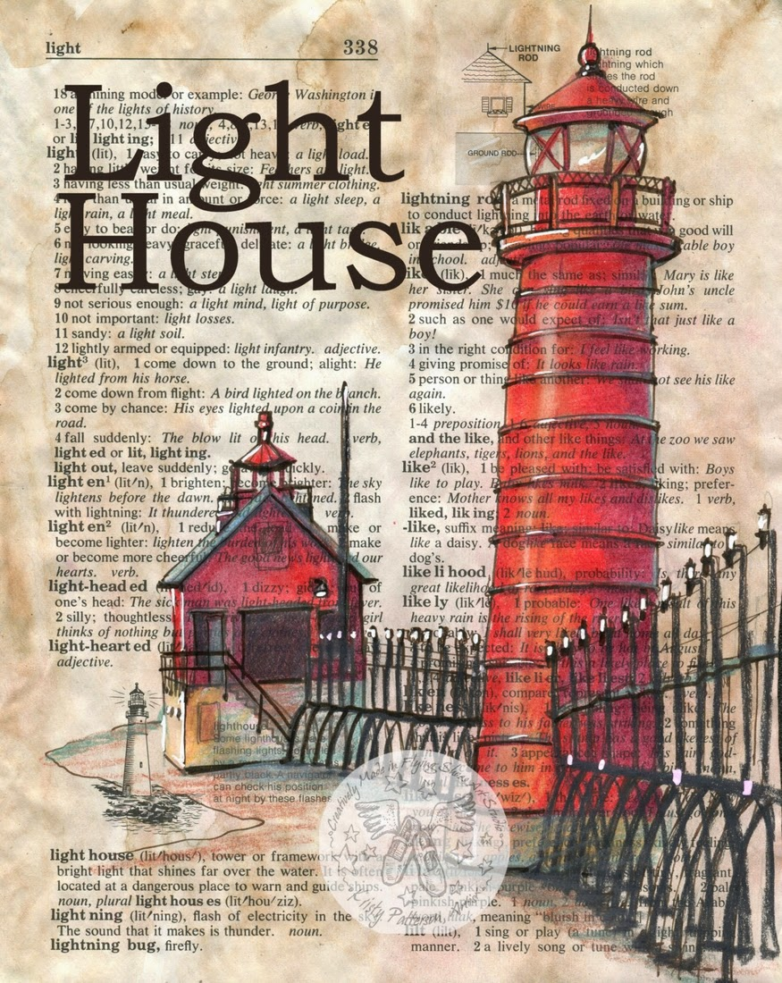 22-Lighthouse-Kristy-Patterson-Flying-Shoes-Art-Studio-Dictionary-Drawings-www-designstack-co