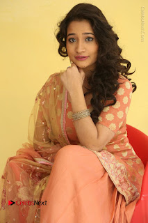 Telugu Actress Santoshi Sharma Latest Stills in Salwar Kameez at HBD Movie Teaser Launch  0085.JPG