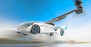 Flying Taxi: Vertical Takeoff and Driving (VTOL) car concept from Aeromobil