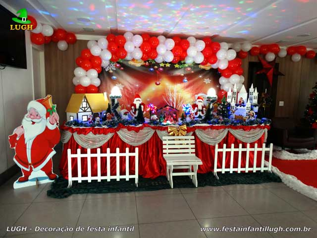 Decoração festa de aniversário infantil tema de Natal - Mesa temática festa na Barra RJ