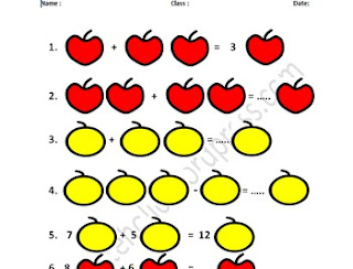 Algebraic Expression With Fruit Picture Worksheet
