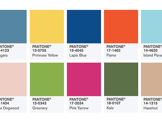 Cores Tendência para 2017 - Pantone