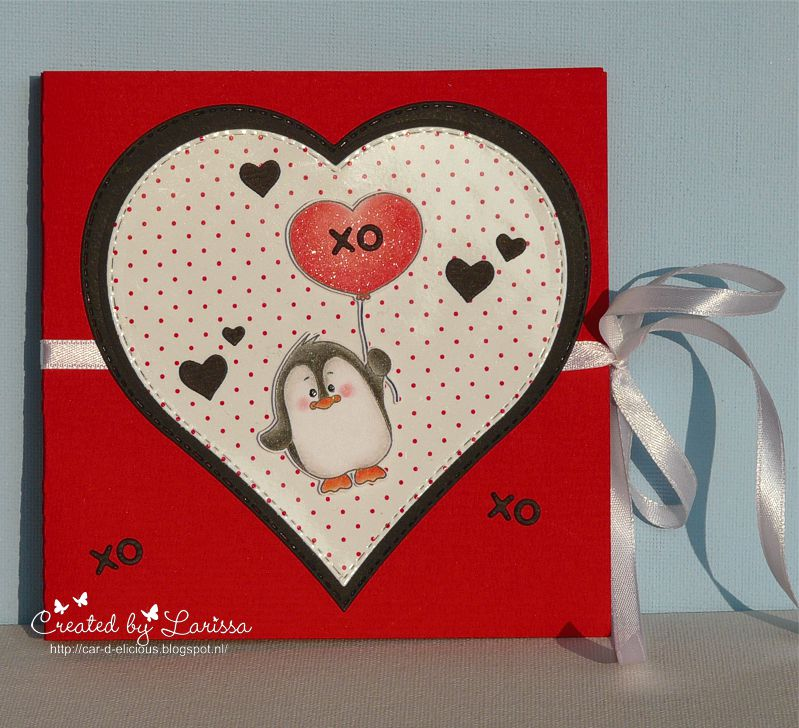 Hi Everyone, I Am Larissa From Car D Elicious And Today I Am Posting A Cute  Card Made With The Very Sweet Stampset Valentine Penguins From Gerda  Steiner ...