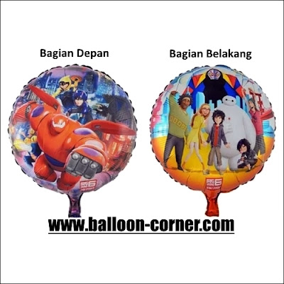 Balon Foil Bulat BAYMAX (2 in 1)