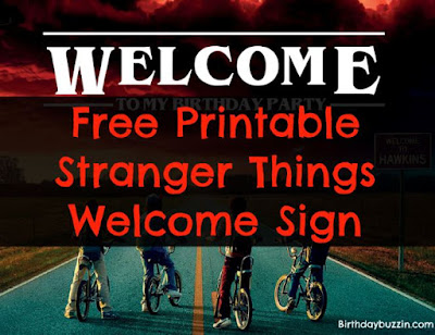 Stranger Things printable party decorations