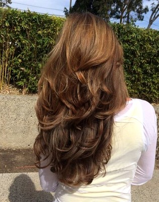 Model rambut sebahu layer panjang full cut