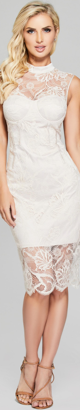 GUESS LOU SLEEVELESS LACE DRESS