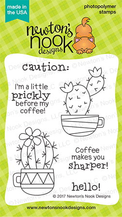 Newton's Nook Designs Cuppa Cacti Stamp Set