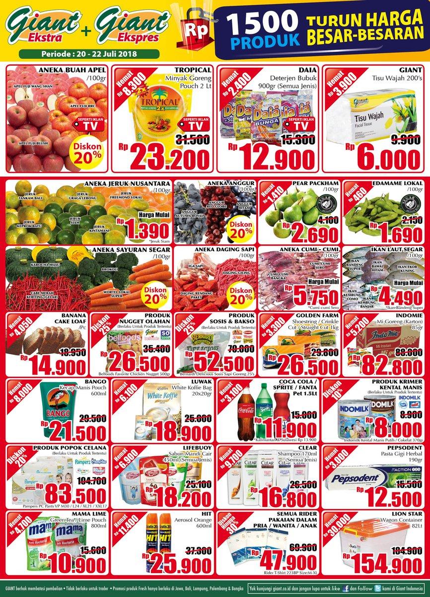 Giant - Katalog Turun Harga Besar Besaran Periode 20 - 22 Juli 2018