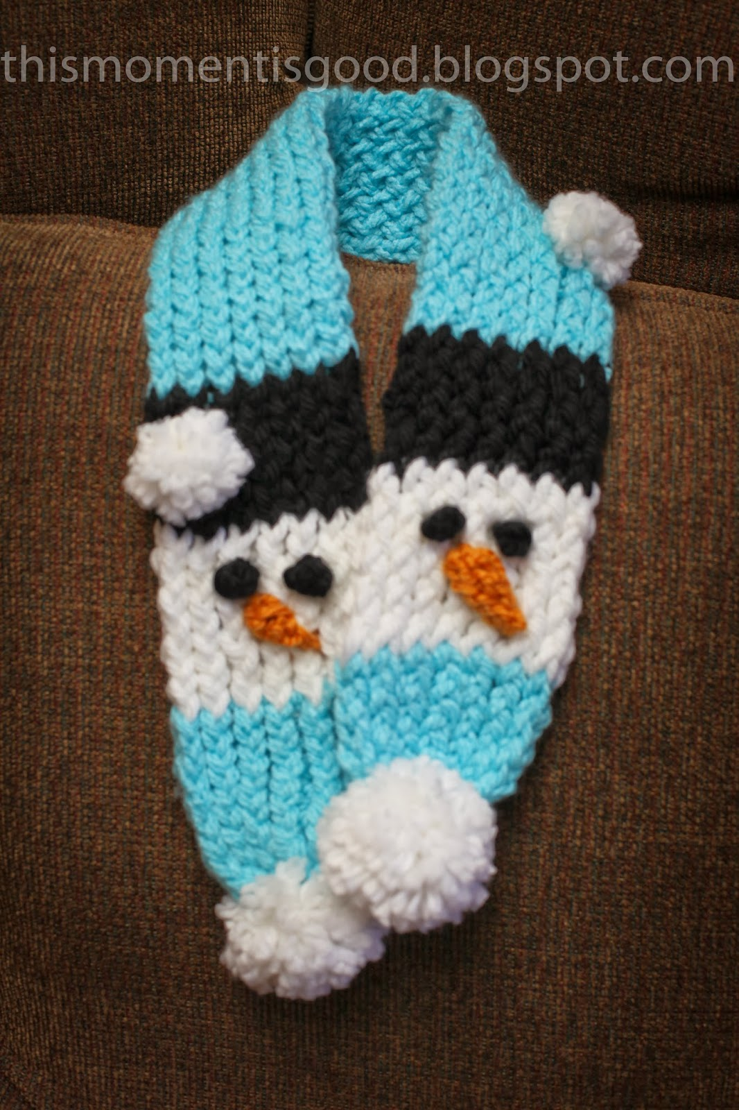 Loom Knit Snowman Scarf Loom Knitting By This Moment Is Good