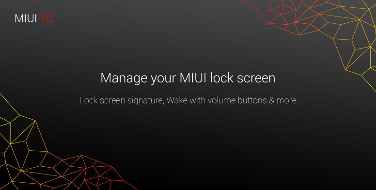 how to manage lock screen on miui 10