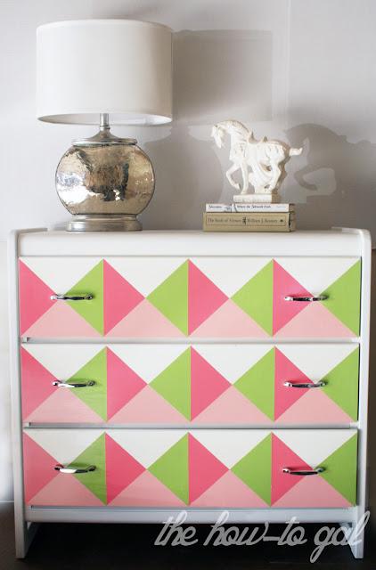 Geometric Dresser DIY