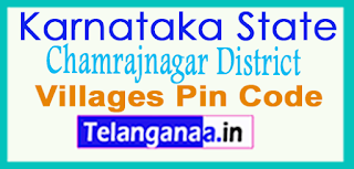 Chamrajnagar District Pin Codes in Karnataka State