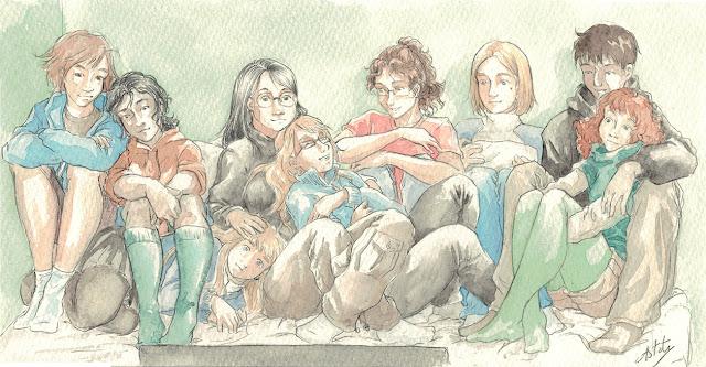 les filles de chronopulp - illustration à l'aquarelle