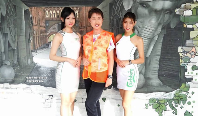 Posing With Carlsberg's Models Before Entering The Factory