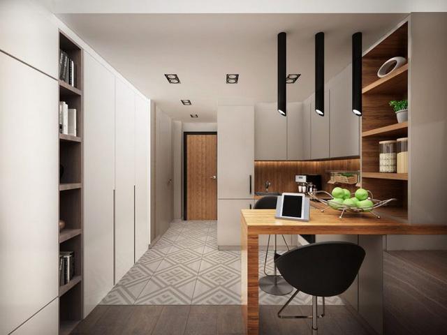 Hệ thống tủ nhiều ngăn giúp tiết kiệm diện tích