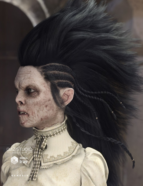 Nox Hair for Genesis 3 Male and Female