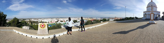 The amazing view of the city of Chiclana de la Frontera