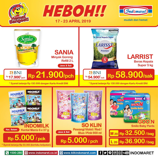 #Indomaret - #Promo #Katalog HEBOH Periode 17 - 23 April 2019