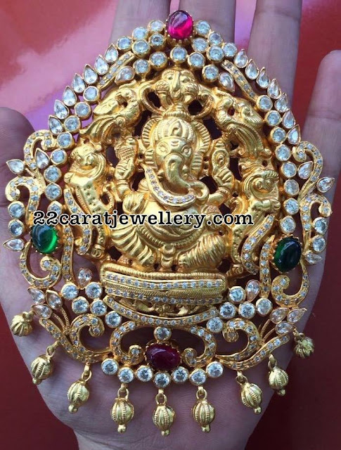 Heavy Ganesh and Lakshmi Pendant Sets