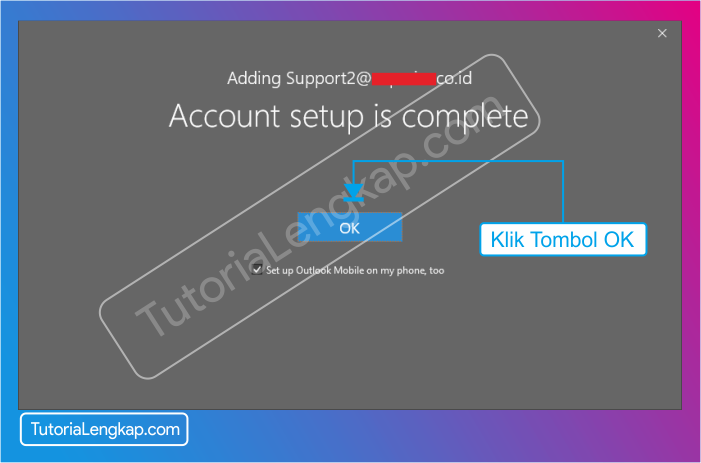 Tutorialengkap 7 Cara setting email pada Microsoft outlook 2019