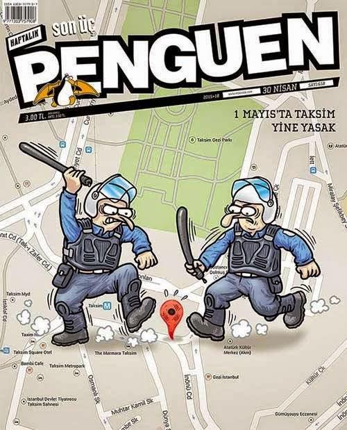 1 mayıs polis taksim karikatür
