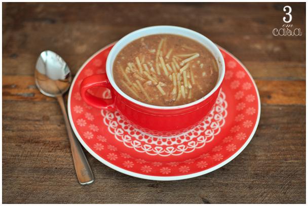 sopa de feijão receita