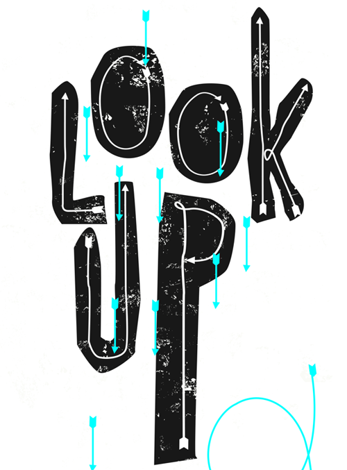 Look Up free font