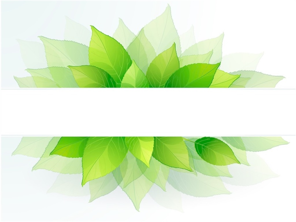 Green leaf PPT cover picture