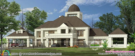 Giant colonial style mansion house