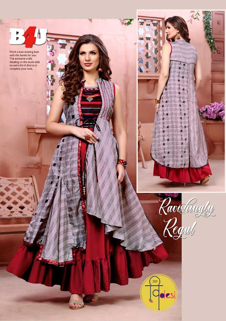 B4U Videsi vol 2 Indo Western gown buy wholesale